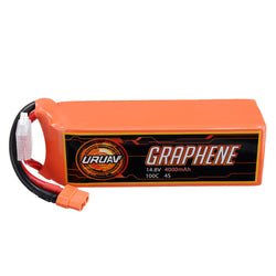 URUAV GRAPHENE 4S 14.8V 4000mAh 100C Lipo Battery XT60 Plug for FPV RC Racing Drone
