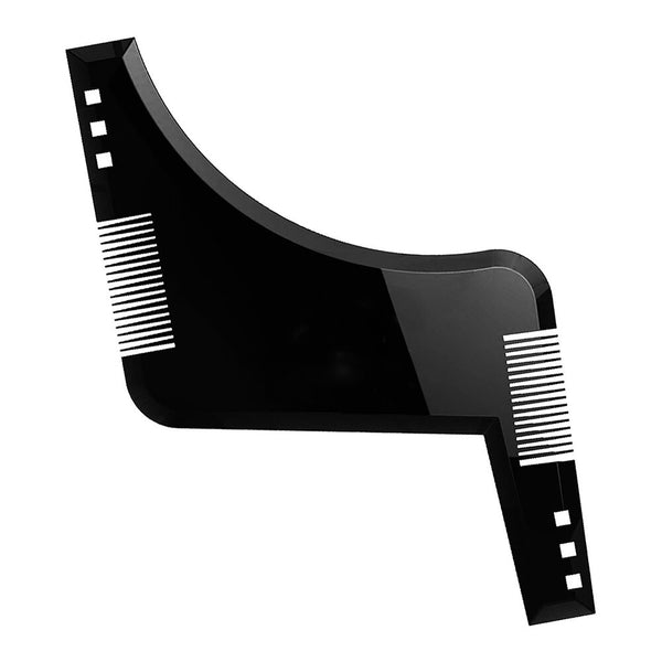 Men Beard Style Comb Appearance Moustache Moulding Hairdressing Plastic Hair Shaping Styling Template Ruler Combs
