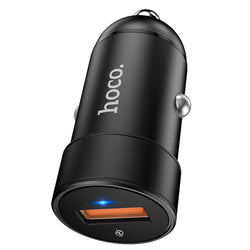 HOCO 18W QC3.0 LED Light Fast Charging USB Car Charger For iPhone XS XR 11 Pro Huawei P30 Pro Mate 30 Oneplus 6T 7 Pro S10+ Note 10