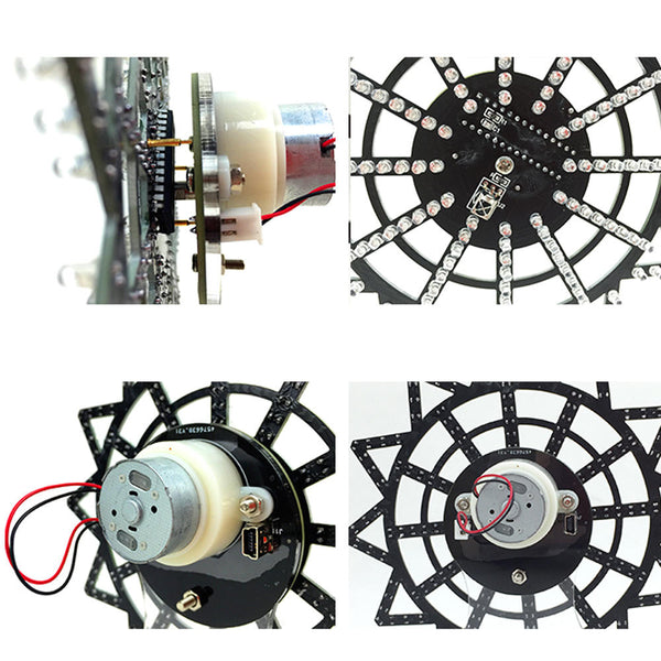 Geekcreit DIY Colorful LED Automatic Rotating Ferris Wheel Kit Electronic Components Diy Music Spectrum Production Kit
