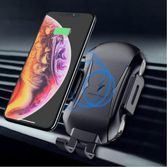 FLOVEME 10W Automatic Clamping Qi Wireless Car Charger For iPhone X Xs Max S9 Note 9 Xiaomi Mix 3