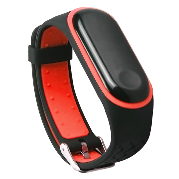 Bakeey Replacement Anti-lost Design Colorful Silicone Watch Band for Xiaomi Mi Band 4&3 Smart Watch