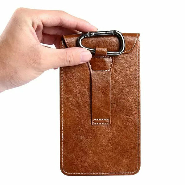 Bakeey Casual Vintage Bussiness Vertical PU Leather Mobile Phone Money Coin Hiking Sport Men Phone Bag Belt Waist Bag Sidebag Pack For iPhone SE UMIDIGI A7 Pro UMIDIGI S5 Pro case