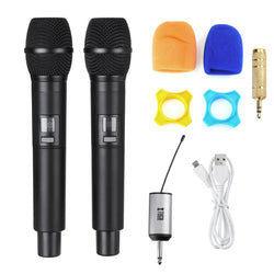 UW-01 UHF Wireless Microphone System Handheld LED Mic with Receiver