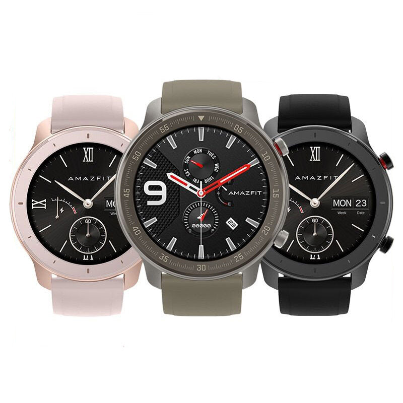 [bluetooth 5.0]Amazfit GTR 42MM AMOLED Smart Watch GPS+GLONASS 12 Sports Mode 5ATM Music Control Wristband Global Version