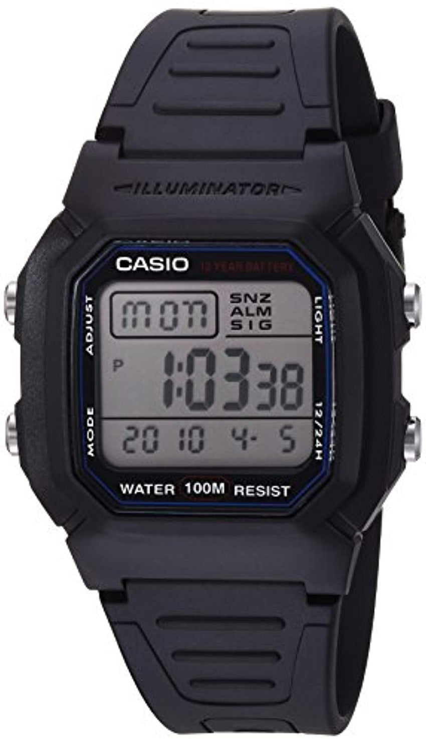 Casio Men's W800H-1AV Classic Sport Watch with Black Band 100-meter water resistance Best Digital Watch USA Imported Product