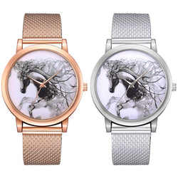 LVPAI P598 China Style Horse Dial Face Women Wrist Watch Casual Style Quartz Watches