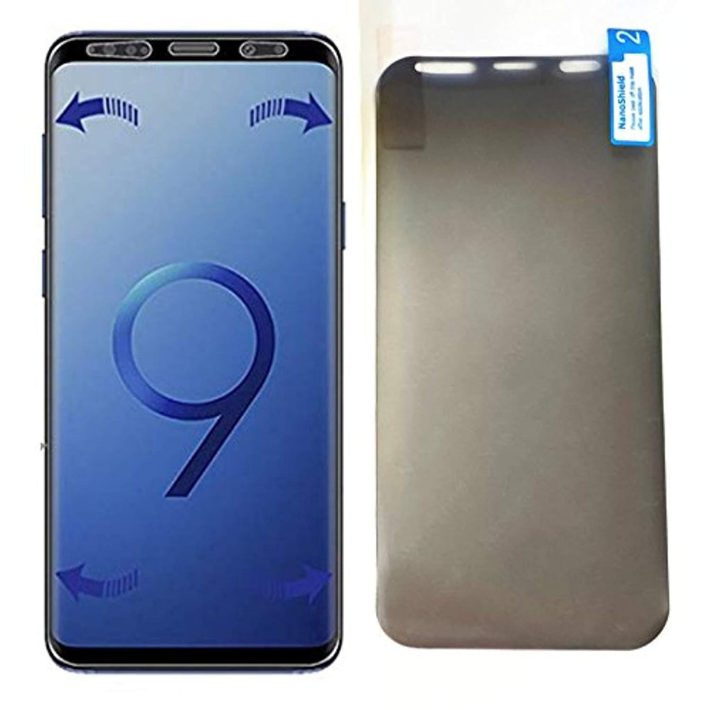 High Quality HD Clear screen protector for Samsung Galaxy S9 Plus Screen Protector Privacy Film- 1PACK Anti Spy Peeking Soft Film (Not Tempered Glass) for Samsung S9+ USA Imported Product - EY Shopping
