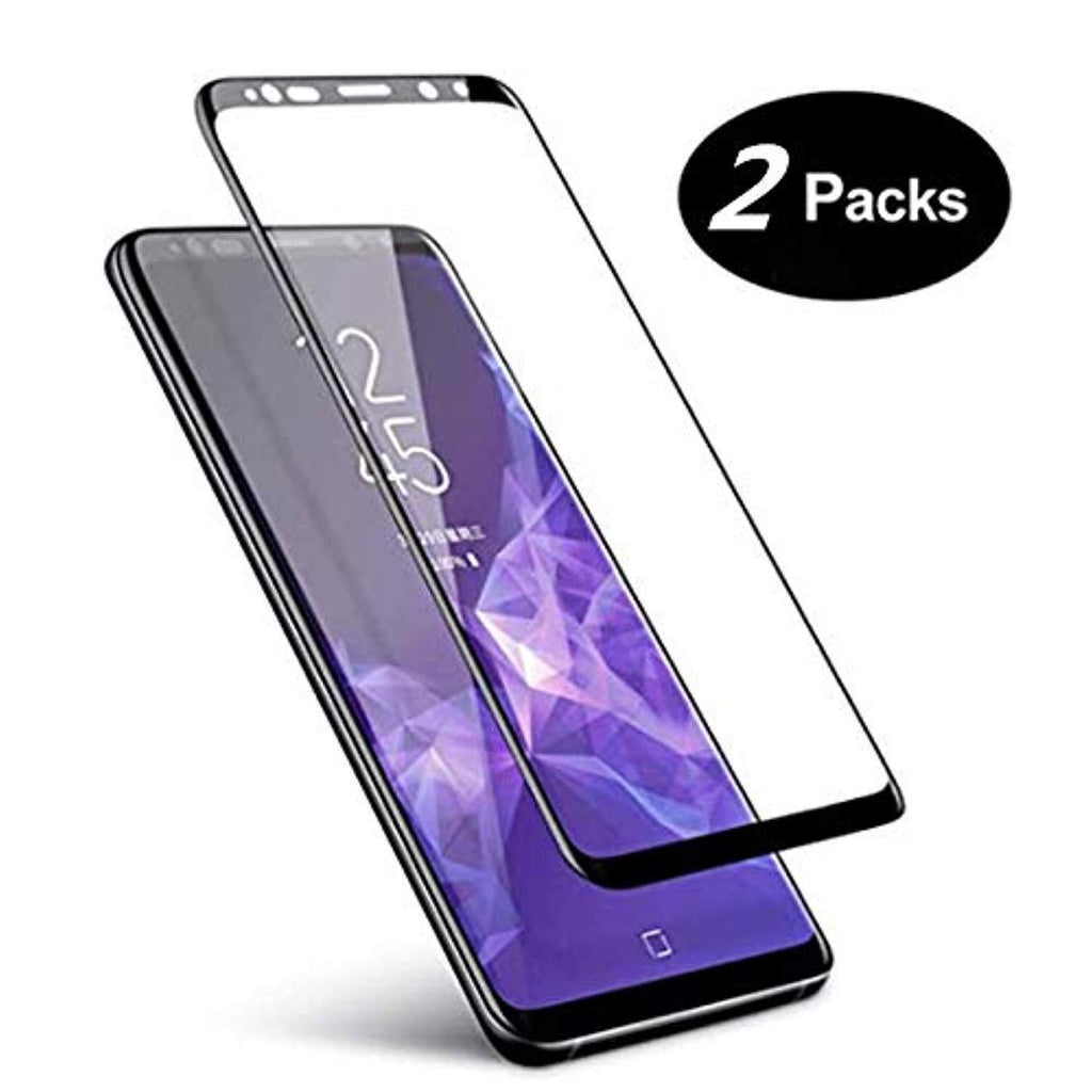 "High Quality HD Clear screen protector for Galaxy S9 Screen Protector Glass, [2PACK] Samsung Galaxy S9 Protective Film, 3D Curved Full Cover Screen Temperedd Glass for Samsung Galaxy S9 (5.8"") USA Imported Product - EY Shopping"