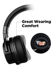 wireless bluetooth headphones COWIN E7 PRO [Upgraded] Active Noise Cancelling Headphones Bluetooth Headphones with Microphone/Deep Bass Wireless Headphones Over Ear 30 Hours Playtime for Travel/Work/Cellphone, Black USA Imported Product