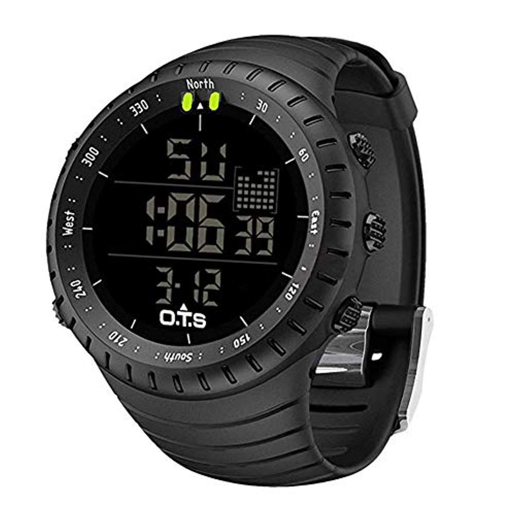 Military style outlook Big numbers display PALADA Men's Digital Sports Watch Waterproof Tactical Watch with LED Backlight Watch for Men USA Imported Product