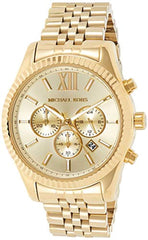 Imported Round watch featuring Michael Kors Men's Lexington Chronograph  Stainless Steel Watch USA Imported Product