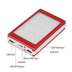 New High Quality Zerone Solar Charger DIY Kit, 20000mAh Solar Power Bank Portable External Backup Battery Pack Dual USB Solar Phone Charger LED Light for Your Smartphones and More(Rose Red) USA Imported Product - EY Shopping