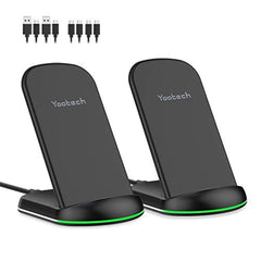 New High Quality Yootech Wireless Charger,[2 Pack] 10W Max Qi-Certified Wireless Charging Stand, Compatible with iPhone 11/11 Pro/11 Pro Max/Xs MAX/XR/XS/X/8,Galaxy S20/Note 10/S10 Plus(with 4 USB C Cable) USA Imported Product - EY Shopping