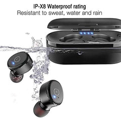 High Quality TOZO T10 Bluetooth 5.0 Wireless Earbuds with Wireless Charging Case IPX8 Waterproof TWS Stereo Headphones in Ear Built in Mic Headset Premium Sound with Deep Bass for Sport Black USA Imported Product - EY Shopping