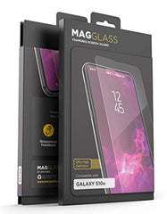 High Quality HD Clear screen protector Magglass Samsung Galaxy S10e Tempered Glass Screen Protector - Anti Bubble UHD Ultra Clear Scratch Resistant Display Guard (Case Compatible) for Samsung Galaxy S10 E USA Imported Product - EY Shopping