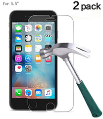 "New High Quality, TANTEK Friendly Screen Protector Tempered Glass/Case for Apple iPhone 6 Plus[5.5"" inch] 2015 2016, 2017 (2-Pack), 6S Plus, 7 Plus, 8 Plus, Apple iPhone 7 Plus, 8 Plus Screen Protector USA Imported Product"