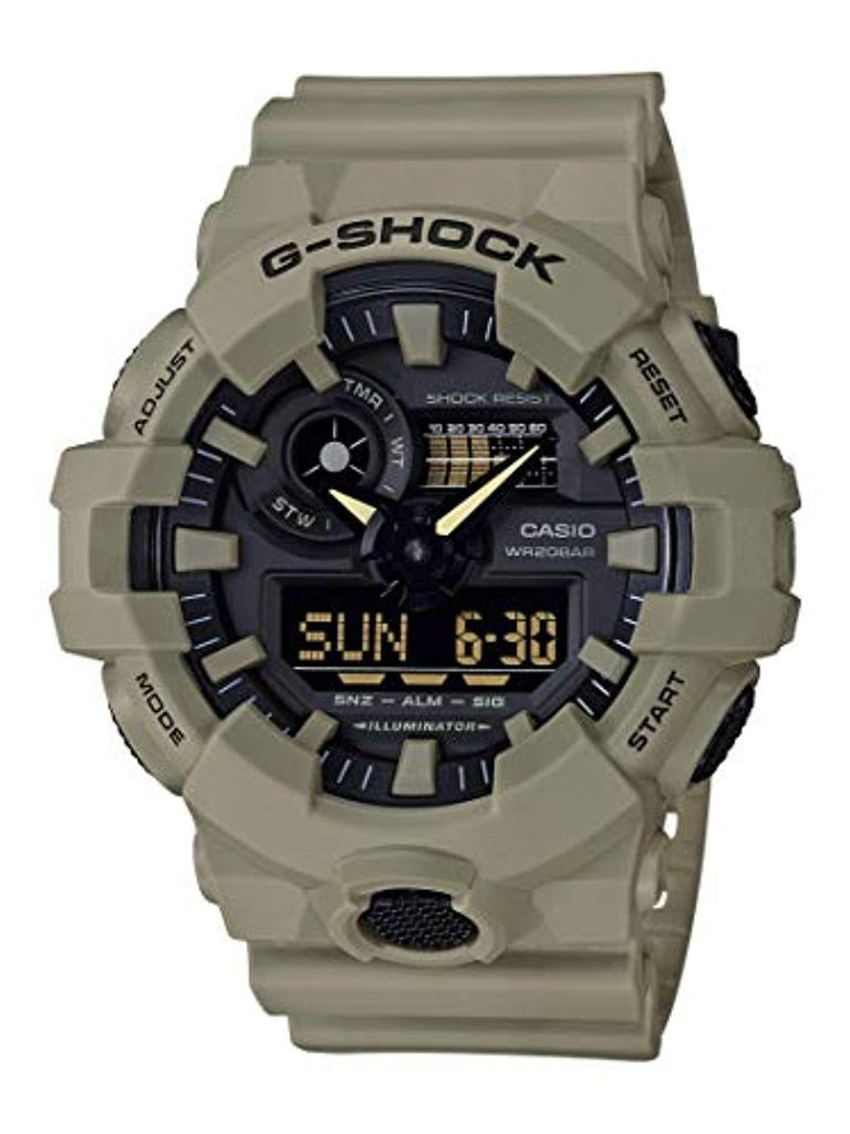 Best Digital Watches high quality Casio Men's G SHOCK Quartz Watch with Resin Strap, Beige, 25.8 (Model: GA-700UC-5ACR) USA Imported Product - EY Shopping