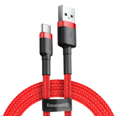 Baseus 3A QC3.0 High-density Braided Type C Fast Charging Data Cable 1M For Oneplus 6 5t Xiaomi Mi8