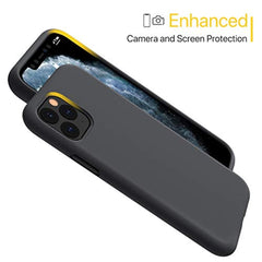 High Quality Miracase Liquid Silicone Case Compatible with iPhone 11 Pro 5.8 inch(2019), Gel Rubber Full Body Protection Shockproof Cover Case Drop Protection Case(Black) USA Imported Product - EY Shopping