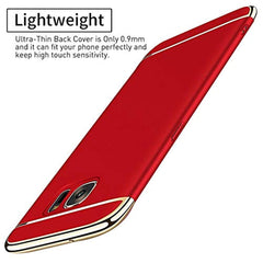 New High Quality Biter Galaxy S6/S6 Edge Case Slim Cover Anti-Scratch Protection 3 In 1 Hard Mobile Phone Ultra With Electroplate Frame For Full Protective Samsung Galaxy S6 Edge Plus 360 Coverage (S6, Red) USA Imported Product