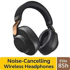 best wireless calls and music experience with SmartSound Jabra Elite 85h Wireless Noise-Canceling Headphones, Copper Black – Over Ear Bluetooth Headphones Compatible with iPhone & Android - Built-in Microphone, Long Battery Life - Rain & Water Resistant U
