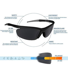 High quality men sunglasses style Polarized UV400 Sport Sunglasses Anti-Fog Ideal for Driving or Sports Activity USA Imported Product - EY Shopping