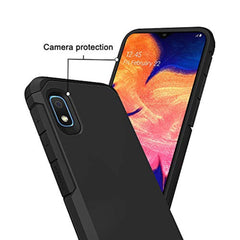 Starhemei New High Quality Galaxy A10E Case, Shock Absorption Double Layer Rubber Case Hybrid Armor Full-Body Protective Case Cover for Samsung Galaxy A10E (Black) USA Imported Product