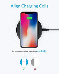 New High Quality Anker Wireless Charger, PowerWave Pad Upgraded 10W Max, 7.5W for iPhone 11, 11 Pro, 11 Pro Max, Xs Max, XR, XS, X, 8, 8 Plus, 10W for Galaxy S20 S10 USA Imported Product S9 S8, Note 10 Note 9 Note 8 (No AC Adapter) - EY Shopping