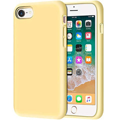 "High Quality iPhone 8 Case, Anuck Non-Slip Liquid Silicone Gel Rubber Bumper Case with Soft Microfiber Lining Cushion Hard Shell Shockproof Full-Body Protective Case Cover for Apple iPhone 7/8 4.7"" - Yellow USA Imported Product - EY Shopping"