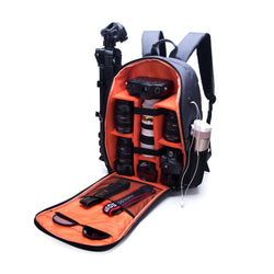 Waterproof Shockproof Anti-theft Storage Carry Traval Bag Backpack for DSLR Camera Lens Tripod Tablet Pad Cloth