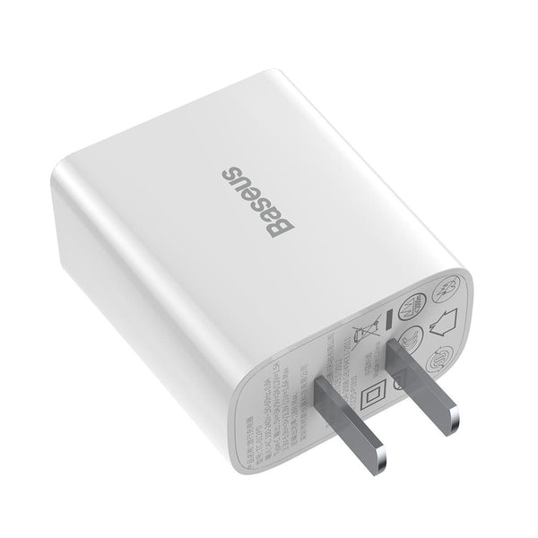 Baseus TC-012 3A 18W QC3.0 Smart Dual USB Quick Charge Wall Charger for Samsung S10+ Xiaomi Redmi Note8 HUAWEI Mate30 Pro