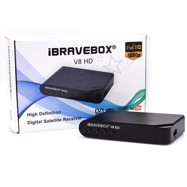 iBRAVEBOX V8 HD DVB-S/S2 TV Signal Satellite Receiver Support Newcam USB WIFI BISS POWEY VU Youtube