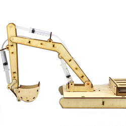DIY STEAM Wooden Hydraumatic Grab Digger RC Robot Toy  Educational Kit