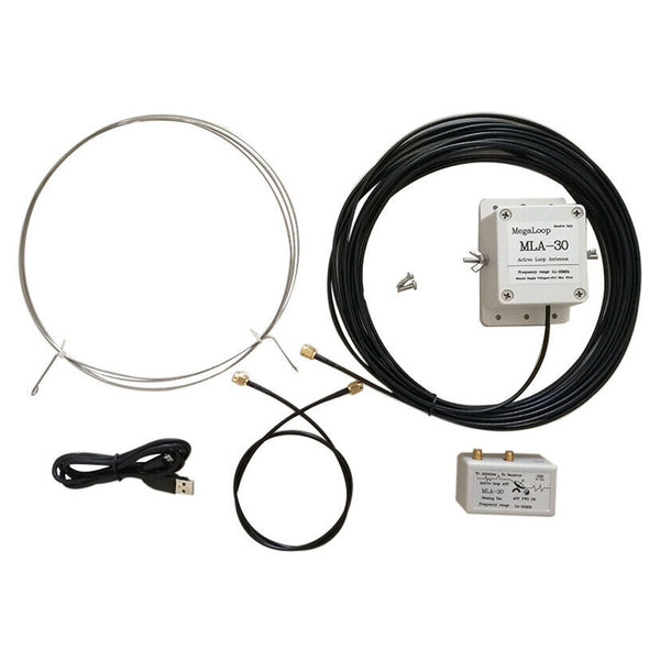 MLA-30 100kHz-30MHz Loop Antenna Active Receiving Antenna Low Noise Antenna for HA SDR Short Wave Radio