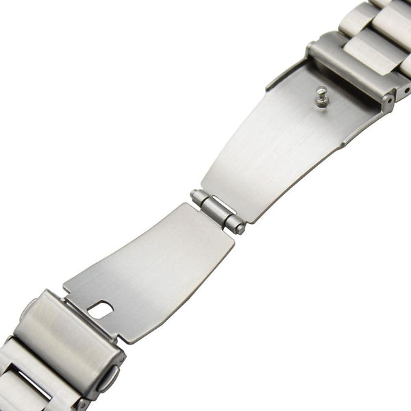 Bakeey 22mm Three Beads Solid Stainless Steel Watch Band for Huawei GT Smart Watch