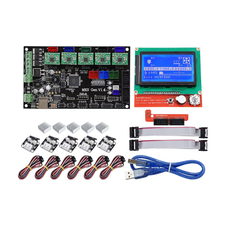 MKS GEN V1.4 Mainboard Motherboard+ 12864 LCD Display Screen + 5x A4988 Driver + 6x Limit Switch Kit For 3D Printer