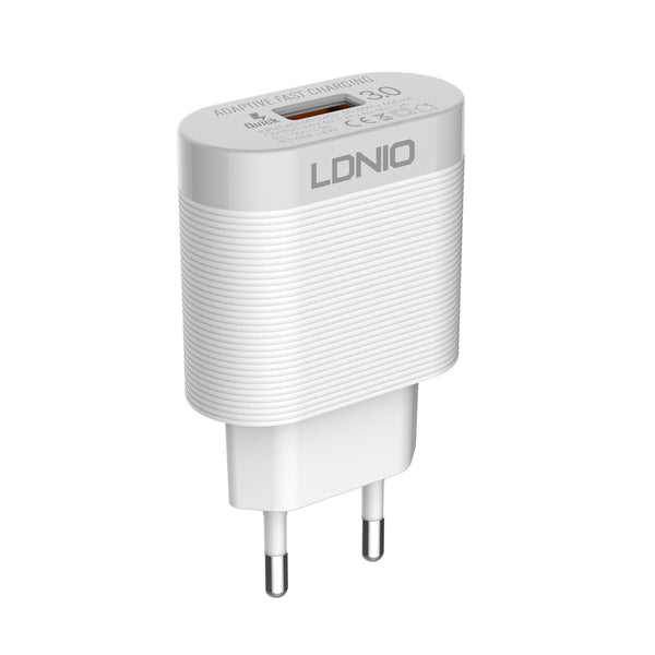 LDNIO 18W QC3.0 USB Charger Travel Wall Charger Adapter With USB Type-C Cable Fast Charging For iPhone XS 8Plus 11Pro Xiaomi MI10 Redmi Note 9S OnePlus 8Pro