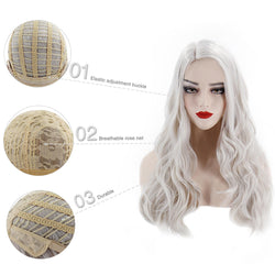 Long Body Wave Ombre Black Pink Rose Gold Light Blonde Brown Green Grey PurpleSynthetic Wig For Black Women Cosplay