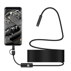 Bakeey 3 in 1 5.5mm 6Led Type C Micro USB Borescope Inspection Camera Soft Cable for Android PC