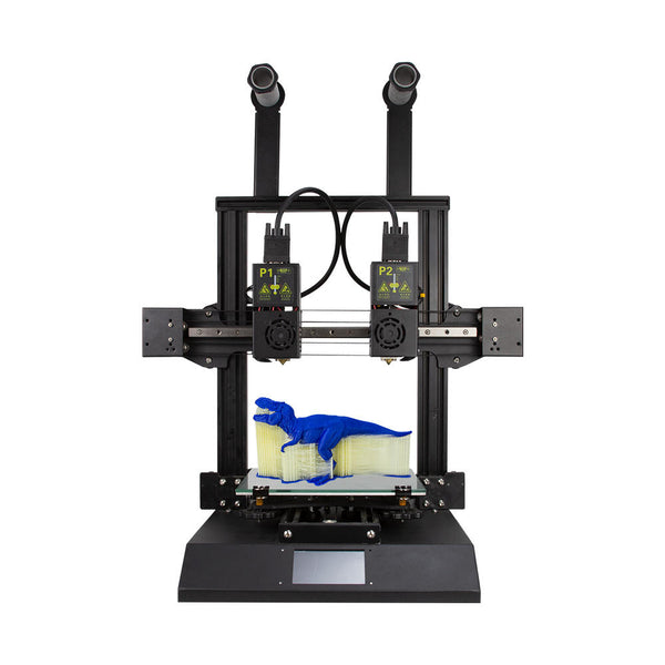 TENLOG Hands 2 FDM 3D Printer Kit 220*220*250mm Print Size with Dual Nozzl Extruder/Powerful Mainboard/Modular Xaxis/Dual Motor/3.5inch Colorful Screen