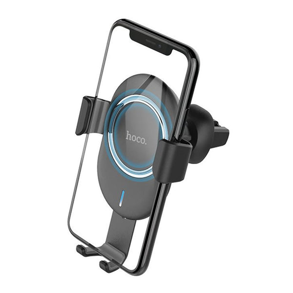HOCO CW17 Qi Wireless 10W Fast Charger Garvity Auto Lock Car Air Vent Holder Stand for Mobile Phone 4.0-6.5 inches