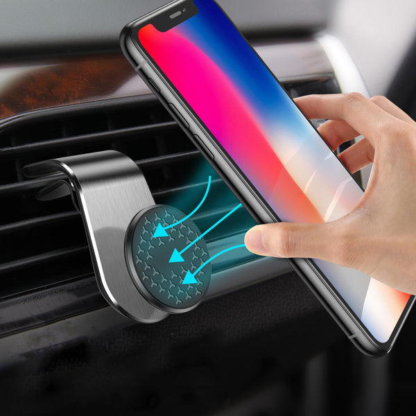 USLION Magnetic Air Vent Car Phone Holder Car Mount 360 Degree Rotation for 3.5-7.0 Inch Smart Phone for iPhone 11 Pro Max Xiaomi Redmi Note 8