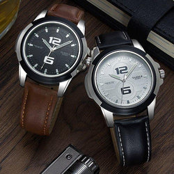 YAZOLE 418 Men Watch Luxury Luminous Leather Strap Fashion Sport Quartz Wrist Watch
