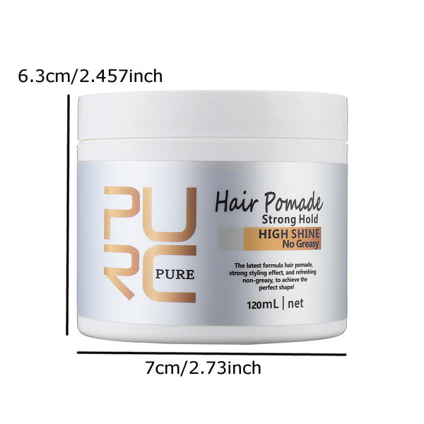 PURC Organic Man Hair Wax Mud 120ml Styling Wax DIY Bright Strong Hold Pomade