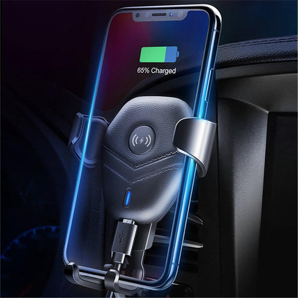 Qi Wireless Charger Air Vent Gravity Linkage Car Mount Car Phone Holder For 4.7-6.3 Inch Smart Phone