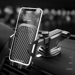 Bakeey Universal Windshield Mount For Smartphone 360 Degree Rotating Multifunction Auto Lock Car Dashboard Suction Cup Gravity Mount Holder for 4.0-7.1 inch Phone