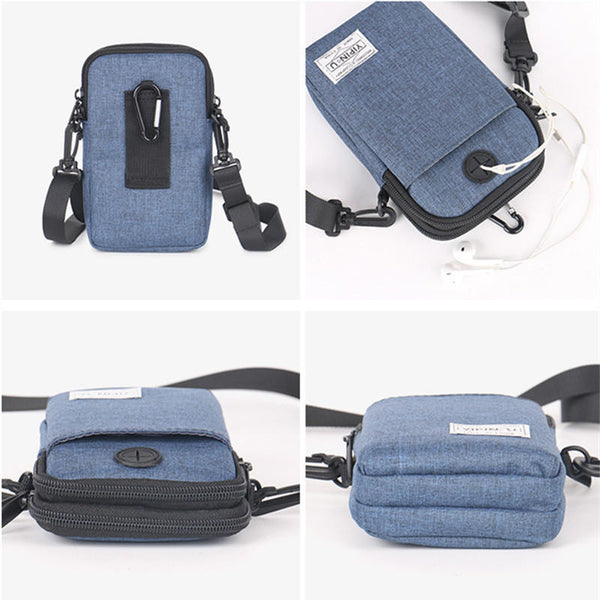 Universal Outdoor Hiking Three Layers Waterproof Crossbody Waist Bag for Xiaomi Mobile Phone