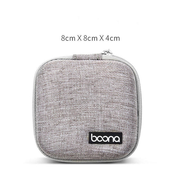 Boona Portable Shockproof Digital Accessories Storage Bag U Dick USB Cable Charger Earphone Organizer Bag
