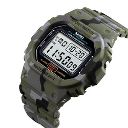 SKMEI 1471 Military Stopwatch Alarm Waterproof Sports Shockproof Digital Watch Men Watch